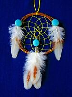 "Authentic Native American Made  Dreamcatcher  3""  Bellamino Acoma Pueblo"