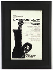 "1969 Cassius Clay ""Buck White"" A New Musical 22""x 31"" Framed On Site Broadside"