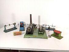 Dampfmaschine Fleischmann 122/3 mit Modellen und Transmissionen ca1958 - undicht