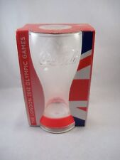 London 2012 Olympics Coca Cola Glass With Red Wristband In Box - McDonalds