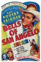 OLD LARGE ROY ROGERS COWBOY MOVIE POSTER, Bells Of San Angelo 1947 1