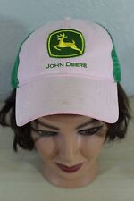 John Deere Green & Pink Baseball Trucker Cap Hat Adjustable