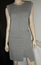 Club Monaco Gray Jersey Dress T-Shirt Style Tie in Front Size Medium