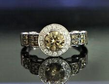 Retail $5,999 LeVian 14K White Gold Chocolate White Diamond Engagemetnt Ring