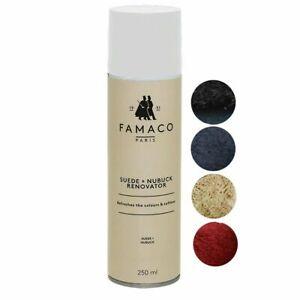 Famaco Suede & Nubuck Renovator Spray, Colour Revitalising For Bags Shoes 250ml