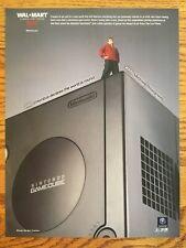 Vintage Nintendo Gamecube 2003 Jet Black Console Poster Ad Advertisement Walmart