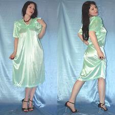 ölig glänzend NEGLIGEE grün* XL 48/50 * Nachtkleid* weiches Satin Dessous