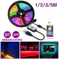 1-5M 5050 SMD LED Stripe RGB Leiste Streifen Band Licht w/ bluetooth APP Control