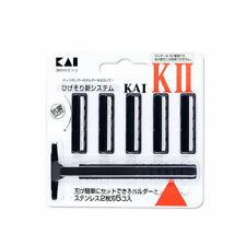 [KAI] K-II Razor, K2, 2 Blades System - 1 Handle + 5 Refill Cartridges