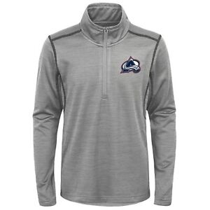 Colorado Avalanche NHL Men's Back to The Arena 1/4 Zip Pullover Sweater, Grey