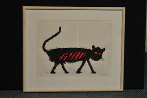 "Basil Hadley ""Tomcat"" Framed Lithograph Original Signed"