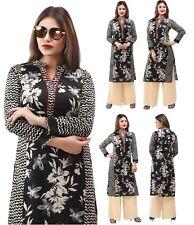 UK STOCK - Women Printed Bolloywood Kurti Tunic Kurta Top Shirt Dress 153A