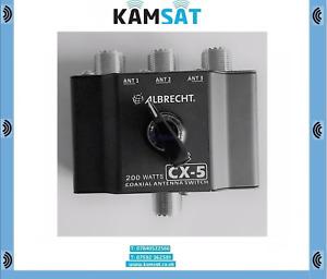 COAX ANTENNA SWITCH - ALBRECHT CX-5 3 POSITION - 1 RTX 0-500 MHZ 200 W