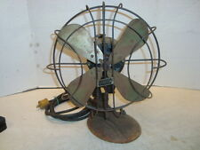 "VINTAGE SPARTAN TABLE 4 Blade FAN 12"" Ocilating 3 Speeds Works"