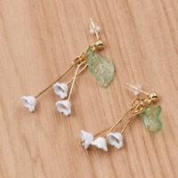 Lovely Floral Leaf Drop Earrings Ear Stud Drop Dangle Women Fashion Jewelry Cute