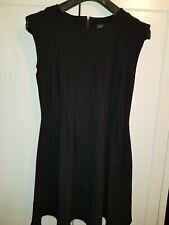 Topshop Black Size 14 Skater Dress. Long zip at the back