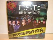 NEW - CSI The Board Game Encore Edition - Gather the Evidence, Solve the Crime