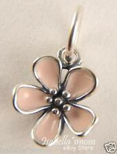 CHERRY BLOSSOM Authentic PANDORA Silver PINK ENAMEL FLOWER Pendant/Charm NEW