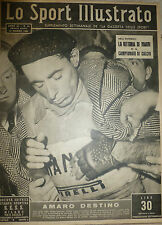 LO SPORT ILLUSTRATO N 11 1951 INFORTUNIO FAUSTO COPPI - BOXE WWALCOTT - CHARLES