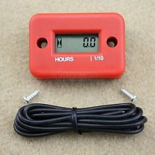 Inductive Hour Meter for Marine ATV Motorcycle snowmobile - Red