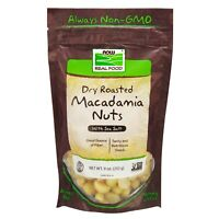 NOW Foods Macadamia Nuts, Dry Roasted & Salted, 9 oz.