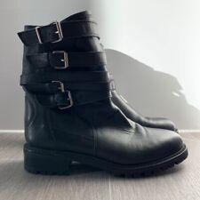 Zara Black Biker Boots - Size UK 5