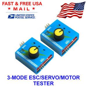 2x Digital ESC Servo Tester CCPM Consistency Controller Motor For RC Airplane