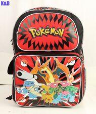 "New Pokemon Pikachu 16"" Large School Backpack For Kids Boys"