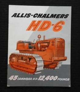 1955 ALLIS CHALMERS HD-6 CRAWLER TRACTOR CATALOG SALES BROCHURE NICE SHAPE