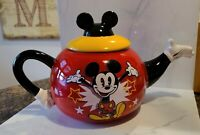 Disney Ceramic Vintage Mickey Teapot 40 oz  Rare version 18975