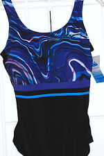 NEW! AQUABELLE SZ 18  XTRA LIFE CHLORINE RESISITANT SWIMSUIT W/ TUMMY CONTROL