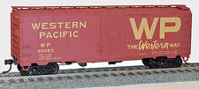 Accurail HO Scale 40' AAR Steel Boxcar Kit - Western Pacific WP