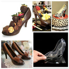 3D High Heel Shoe Chocolate Candy Cake Mould Decorating PC Jelly Ice Soap Mold