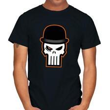 Skull A Clockwork Orange Punisher Mashup Funny Mystery Movie Black T-shirt S-6Xl