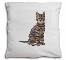 Brown Tabby Cat Soft Velvet Feel Cushion Cover With Inner Pillow, AC-154-CPW