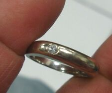 14K SOLID WHITE Gold men's Ring size 9 with one .10 ct diamond LQQK must see