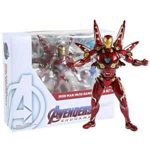 💥Bandai S.H.Figuarts Avengers Endgame Iron Man Mark 50 Nano Weapon Set 2💥