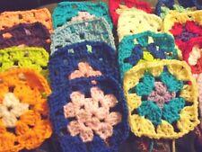 20 Crochet Granny Squares 10cm NEW Hand Made - Assorted Colours