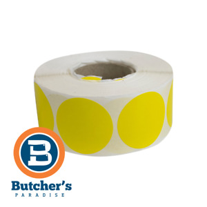 Labels Plain Circle Round Thermal Roll Paper 40mm Diameter Yellow - 1000 Pieces