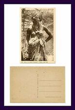 AFRIQUE OCCIDENTALE FRANÇAISE SÉNÉGAL PEUHLE JEUNE FILLE POSTCARD CIRCA 1920