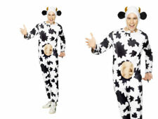 COW FANCY DRESS COSTUME MENS FARM ANIMAL COWS OUTFIT WITH UDDERS ALL IN ONE