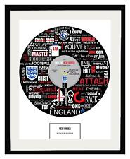 WORLD CUP - ENGLAND - WORLD IN MOTION - MEMORABILIA - FRAMED ART POSTER PRINT