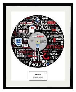 WORLD CUP - ENGLAND - WORLD IN MOTION - MEMORABILIA - FRAMED ART POSTER PRINT