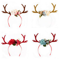 Lovely Christmas Reindeer Antlers Headband Girls Kid Deer Costume Ear Hairband