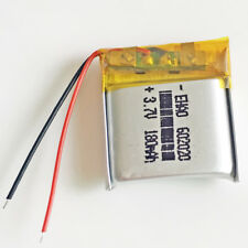 3.7V 180mAh Rechargeable LiPo Polymer Battery For Mp3 GPS PSP bluetooth 602020