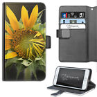 Yellow Sunflower Phone Case, PU Leather Flip Case Cover For Samsung, Apple