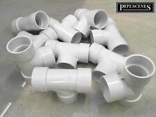 Waste Pipe Fittings Tee for 32mm 36mm x 10 for Solvent Weld Waste Pipe