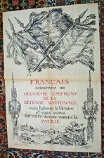 AFFICHE ANCIENNE 2 eme EMPRUNT GUERRE 1914 / 1918 BERNARD NAUDIN-120/80 CM