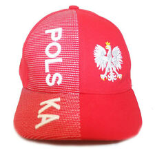 POLSKA POLAND RED WITH  EAGLE  EMBOSSED HAT CAP ..FOR KIDS ( 6 - 10 YRS ) .. NEW