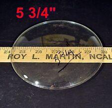 "Vintage NOS 5 3/4""dia Round Convex CLOCK Door GLASS antique replacement part"